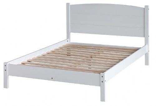 "Balmore White 4'6"" Low End Bed"